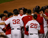 Clay Buchholz is mobbed