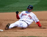 Jed Lowrie slides