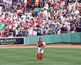 Jason Varitek at attention