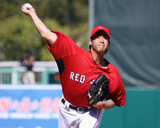 Junichi Tazawa throws